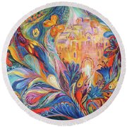 The Spirit Of Jerusalem Round Beach Towel