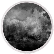 The Storm Round Beach Towel by Wolfgang Schweizer