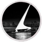 The Sundial Bridge Round Beach Towel