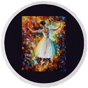 The Symphony Of Dance Round Beach Towel