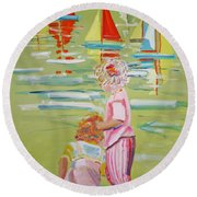 The Toy Regatta Round Beach Towel