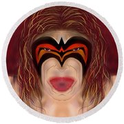 The Ultimate Warrior  Round Beach Towel