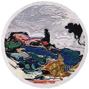 The Unimaginable Dream Of The Fish 22 Round Beach Towel