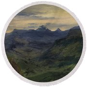 The Valley Of Saint-vincent Round Beach Towel