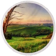 The Valley  Ed1 Round Beach Towel