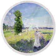 The Walk Round Beach Towel by Claude Monet
