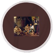 The Women Of Algiers In Their Apartment Round Beach Towel