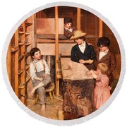 The Young Mechanic Round Beach Towel