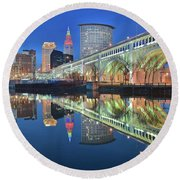 This Is Cleveland II Round Beach Towel