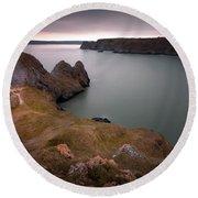 Three Cliffs Bay Gower Round Beach Towel