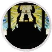 Throne Of Grace Round Beach Towel