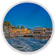 Tiburon Waterfront Round Beach Towel