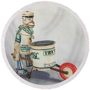 Tidy Tim Round Beach Towel