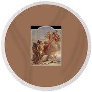 Tiepolo Villa Valmarana Venus Appearing To Aeneas On The Shores Of Carthage Giovanni Battista Tiepolo Round Beach Towel