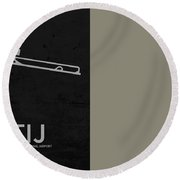 Tij Tijuana International Airport In Tijuana Mexico Runway Silho Round Beach Towel