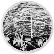Titanic: Lifeboats, 1912 Round Beach Towel