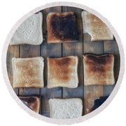 Toast Round Beach Towel