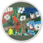 Togetherness Round Beach Towel
