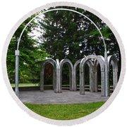 Toledo Botanical Garden Arches Round Beach Towel