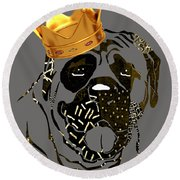 Top Dog Collection Round Beach Towel