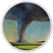 Tornado On The Move Round Beach Towel
