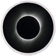 Totality Round Beach Towel