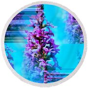 Tower Of Beauty Round Beach Towel