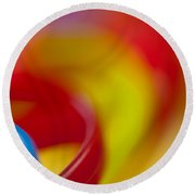 Toy Abstract Round Beach Towel