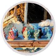 traditional tunis ceramics, Djerba, 07 Nov 2014 Round Beach Towel