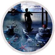 Treasure Island Round Beach Towel