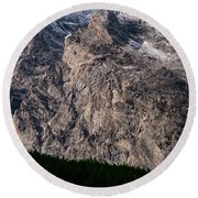 Teton Tree Line  Round Beach Towel