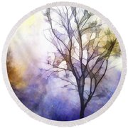 Tree On Vine Round Beach Towel
