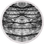 Forest Of Seperation Round Beach Towel