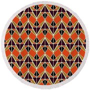 Triangles Pattern Round Beach Towel