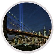 Tribute In Light # 1 Round Beach Towel