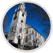 Trinity Church Newport Rhode Island Round Beach Towel