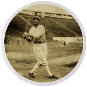 Tris Speaker With Boston Red Sox 1912 Round Beach Towel
