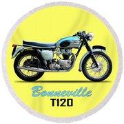 Triumph Bonneville Round Beach Towel
