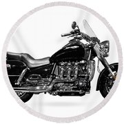 Triumph Rocket IIi Motorcycle Round Beach Towel
