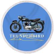 Triumph Thunderbird 1955 Round Beach Towel