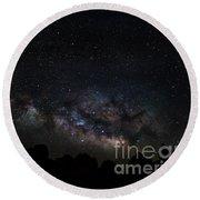 Trona Pinnacles Milky Way Round Beach Towel