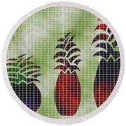 Tropical Fruit Round Beach Towel