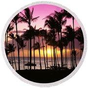 Tropical Sunset Round Beach Towel