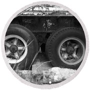 Truck Tires Round Beach Towel