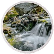 Tryfan In The Ogwen Valley Round Beach Towel