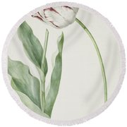 Tulip Grand Roy De France Round Beach Towel
