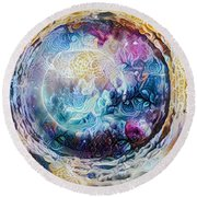Tunnel To The Moon Round Beach Towel