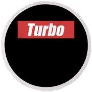 Turbo Car Racing Apparel Round Beach Towel