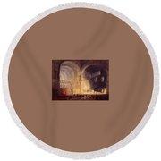 Turner Joseph Mallord William Transept Of Ewenny Prijory Glamorganshire Joseph Mallord William Turner Round Beach Towel
