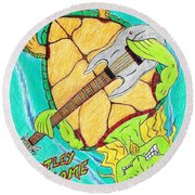 Turtley Awesome Round Beach Towel